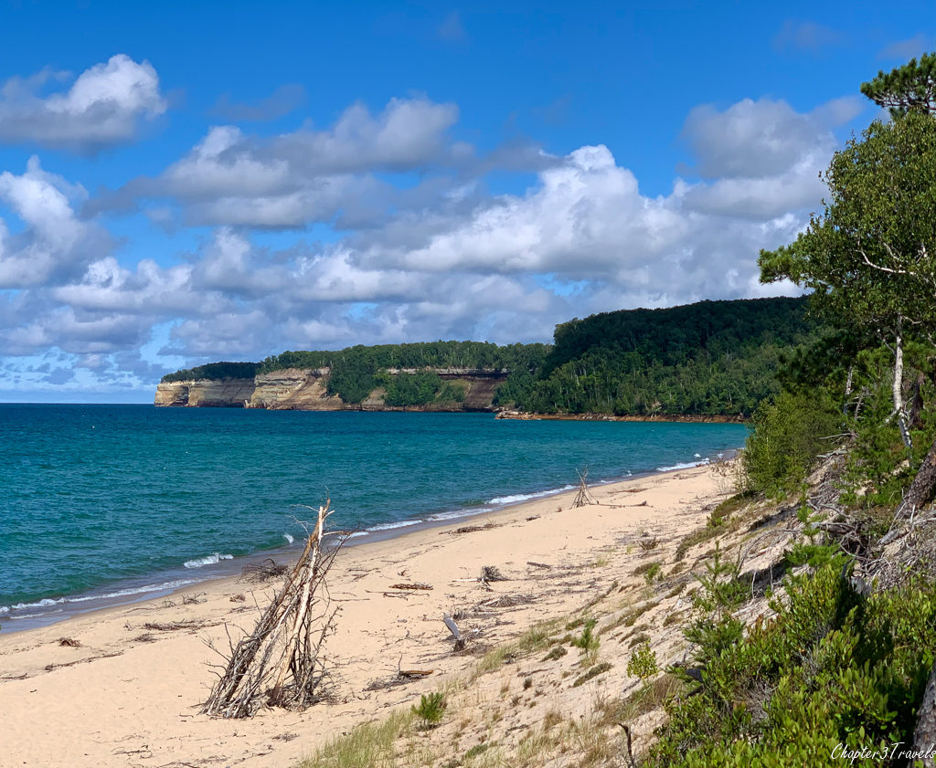 Sandy beach at Pictured Rocks National Lakeshore