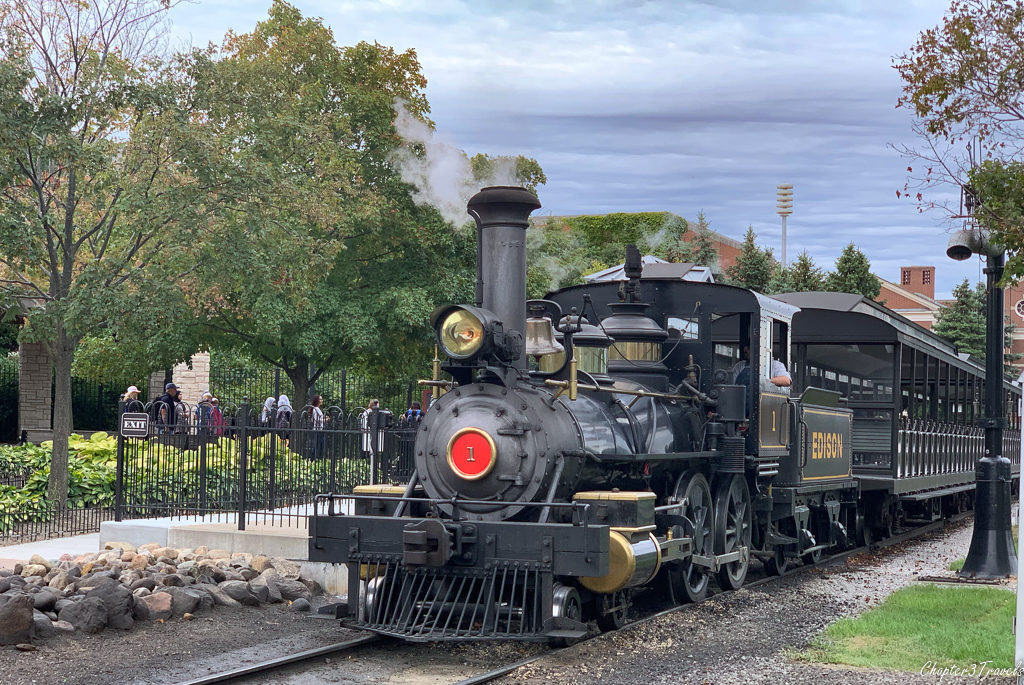 The steam train at Greenfield Village
