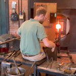 The glassblowing shop at Greenfield Village