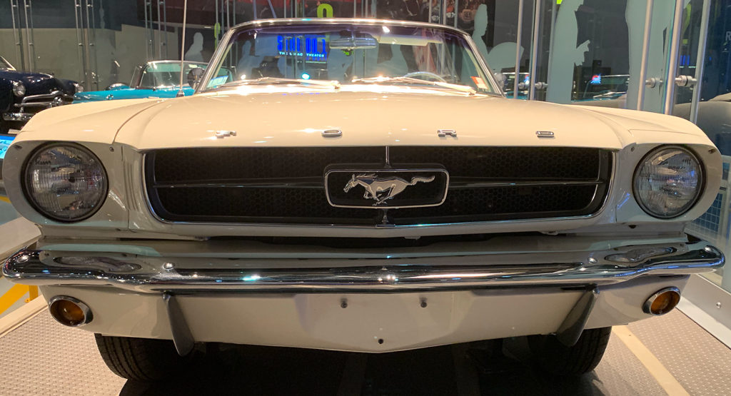 A Ford Mustang at the Ford Rouge Factory in Michigan