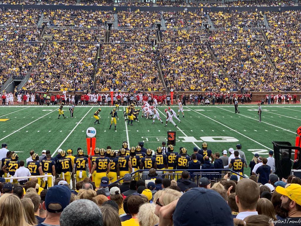 Football game at Michigan stadium