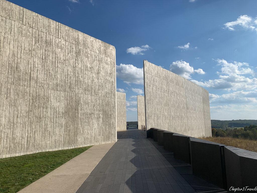 Walking path at Flight 93 memorial in Pennsylvania