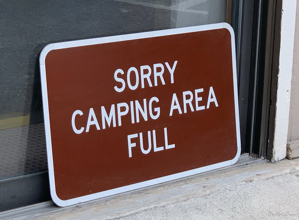 Camping Full sign