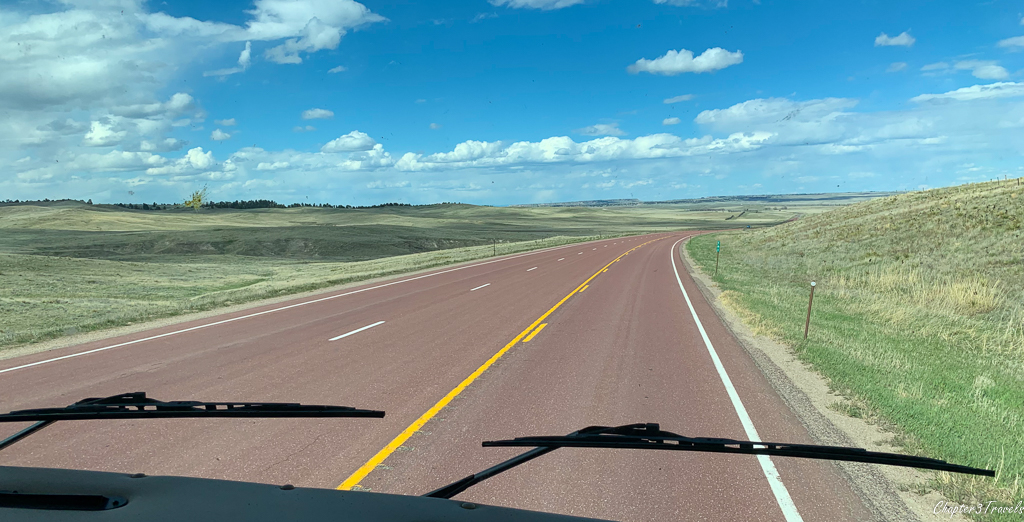 Open road in Wyoming