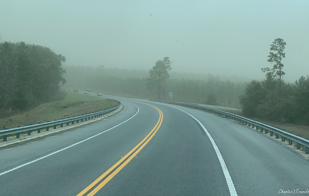 I-10 in Florida blanketed in dust