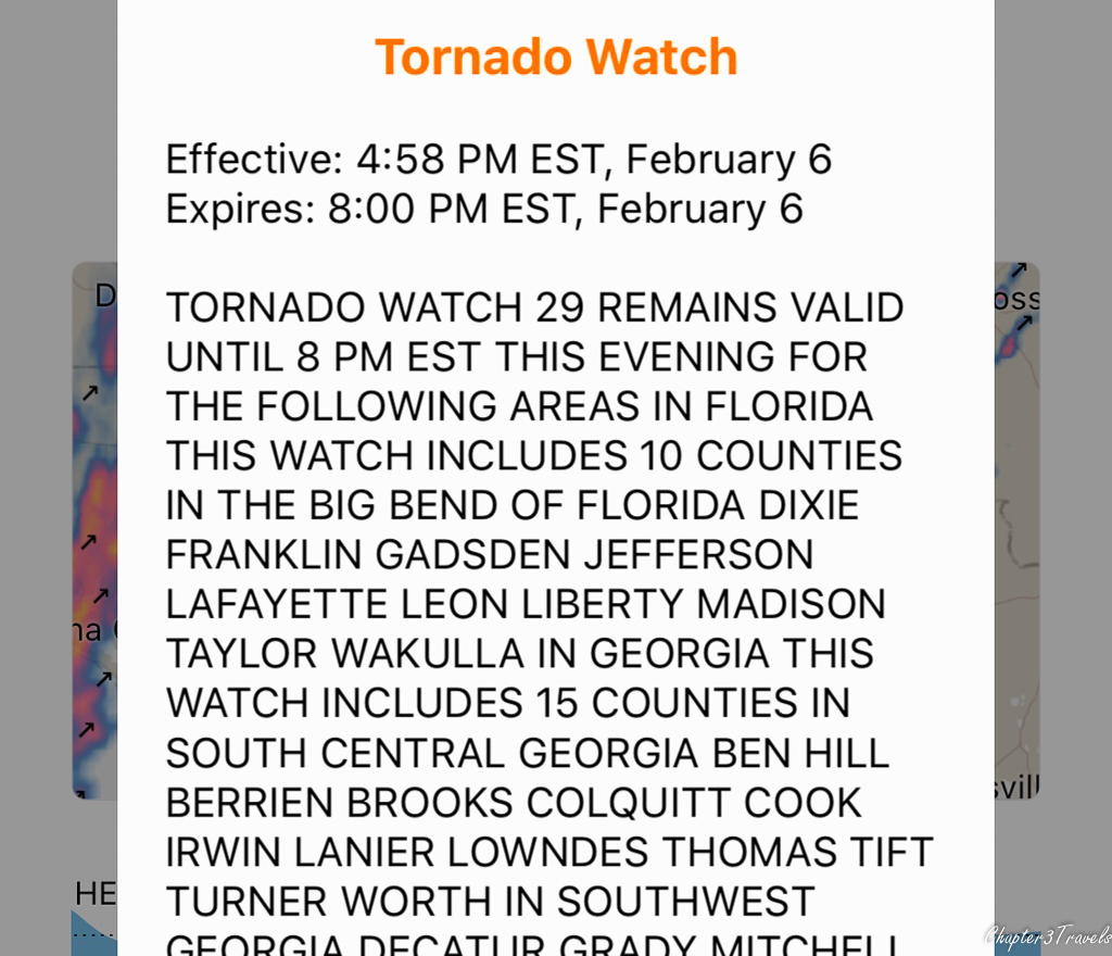 Tornado watch notice