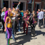 Revelers in the French Quarter during Mardi Gras celebrations
