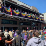 Revelers in the French Quarter during Mardi Gras celebrations