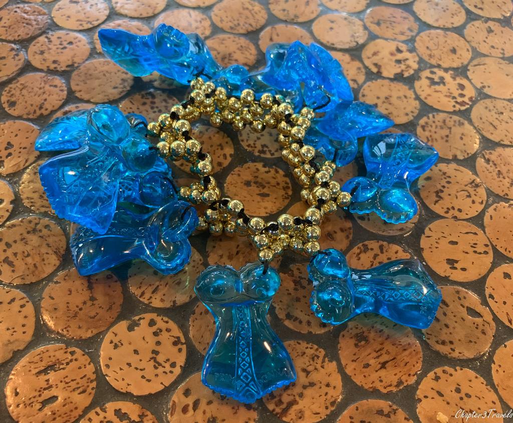 Blue plastic bracelet