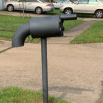 Mailbox in shape of revolver