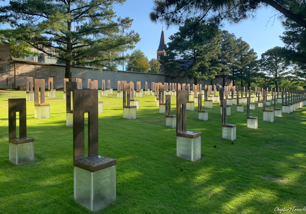 Field of chairs at the Oklahoma City Bombing Memorial