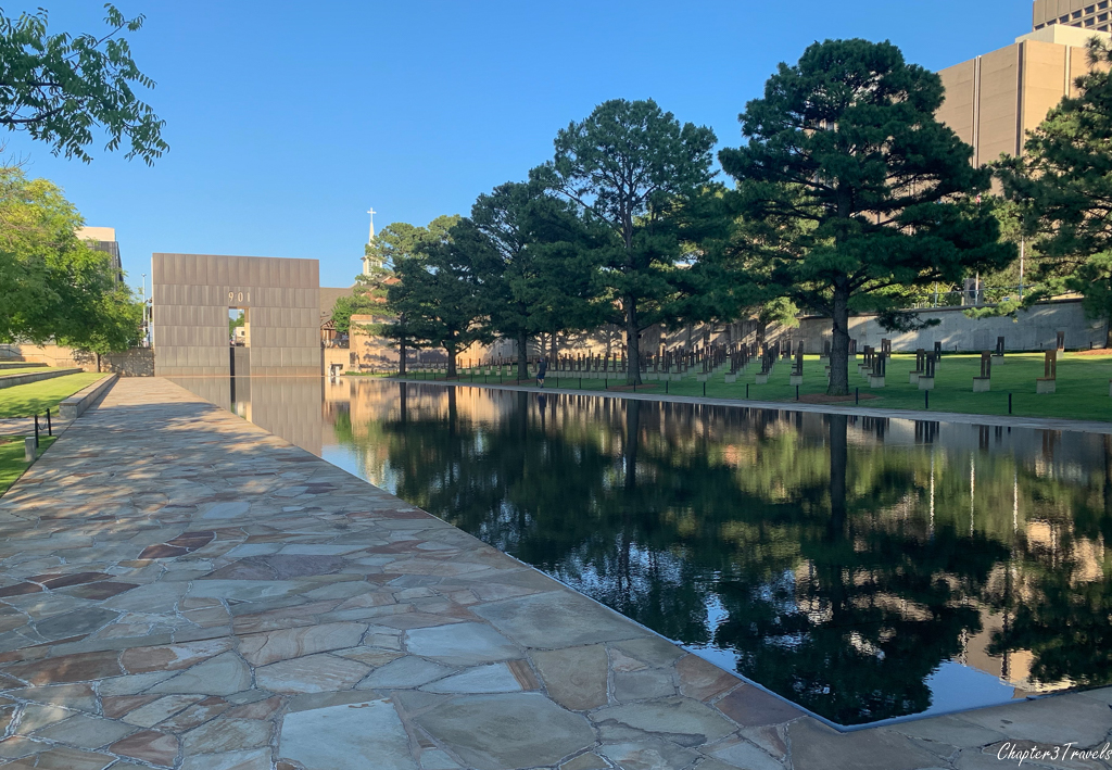 Reflecting pool at the Oklahoma City Bombing Memorial