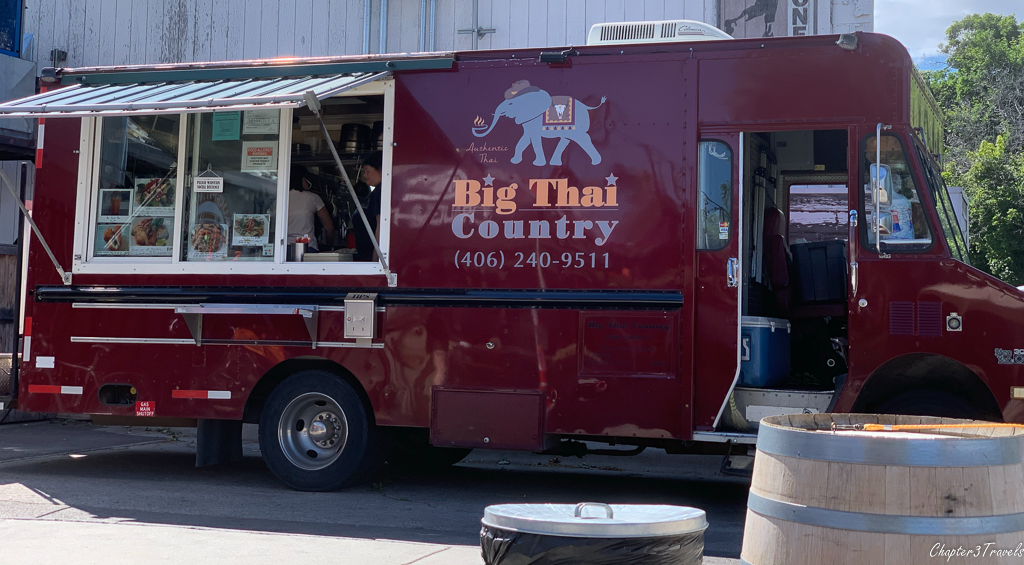 Thai food truck at Draught Works Brewery