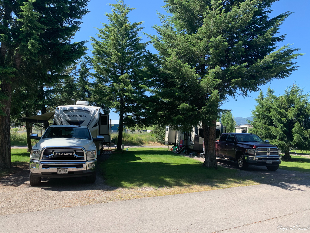 Campsites at Jim & Mary's RV Park in Missoula, Montana