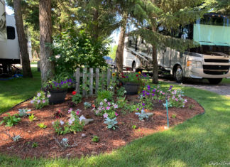 Garden at Jim & Mary's RV Park in Missoula