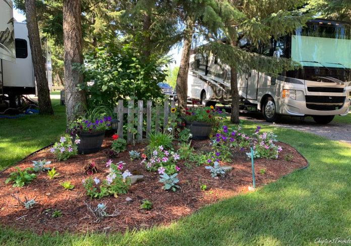 Garden at Jim & Mary's RV Park in Missoula