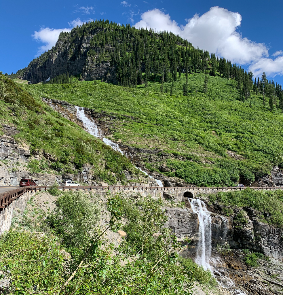 Waterfall along Going to the Sun Road