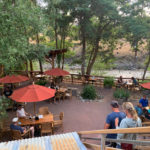 Back patio at Old Schoolhouse Brewery