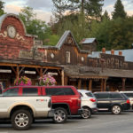 Western themed commercial building in Winthrop, Washington