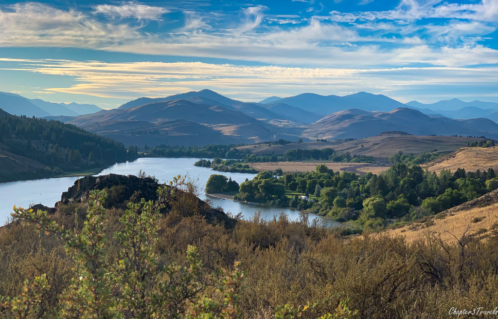 Lake and mountain views at Pearrygin State Park in Winthrop, Washington