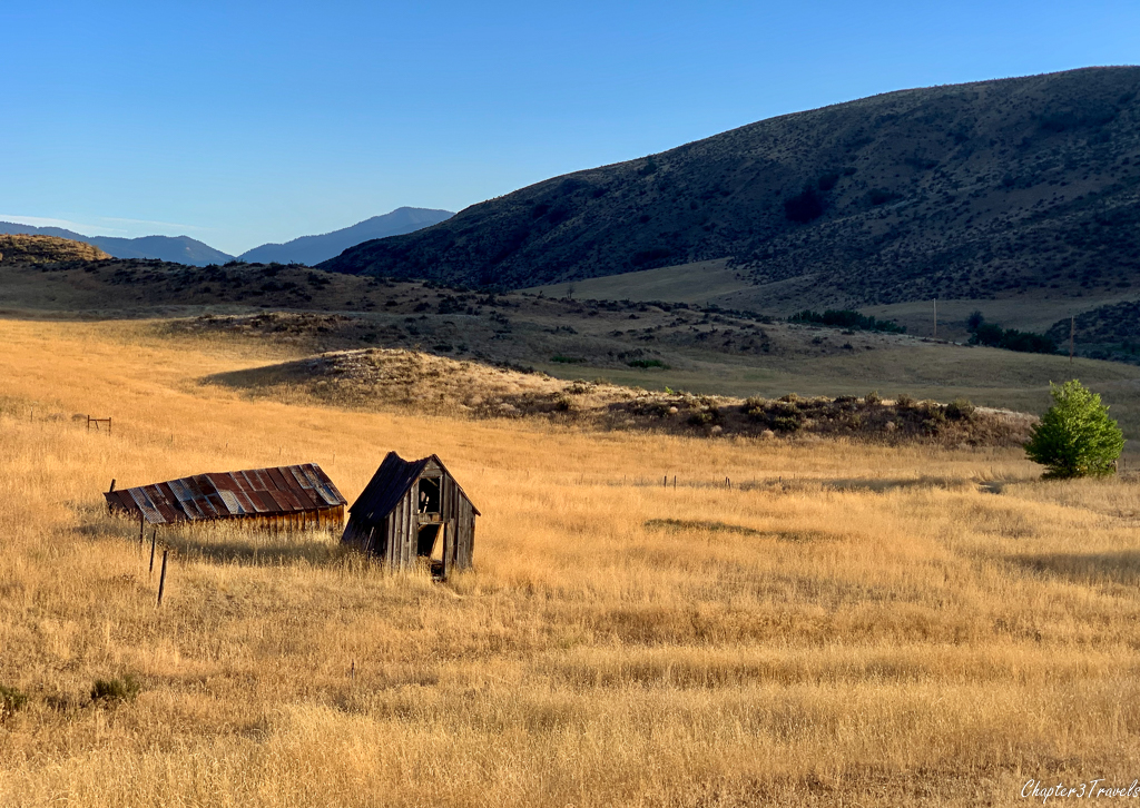 Old dilapidated barn at Pearrygin State Park in Winthrop, Washington