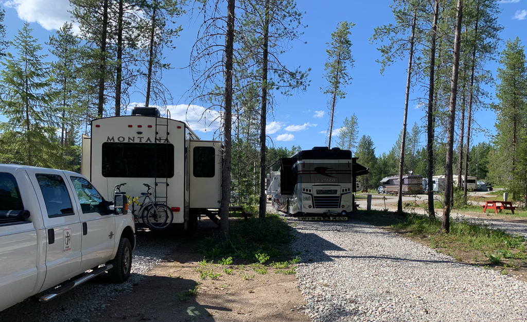 Campsites at North American RV Park in Columbia Falls, Montana