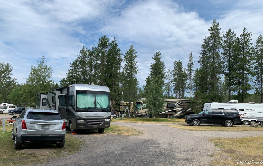 Campsites at North American RV Park in Coram, Montana