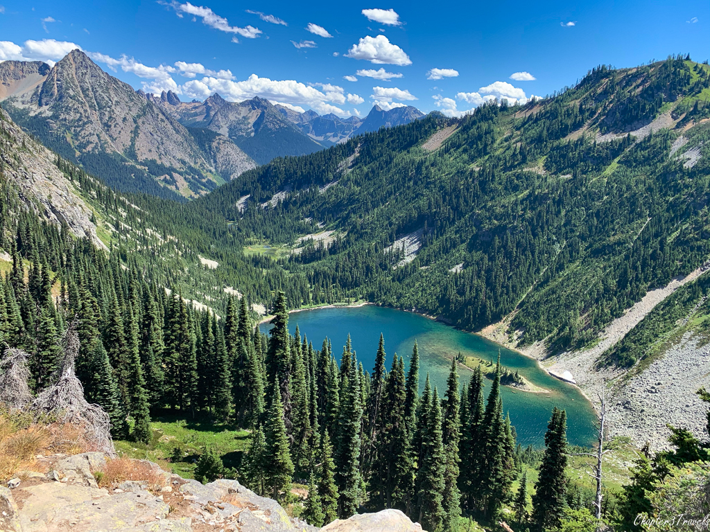 Lake Ann surrounded by mountains in the North Cascades