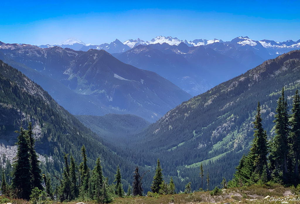 Snow capped mountains in the North Cascades