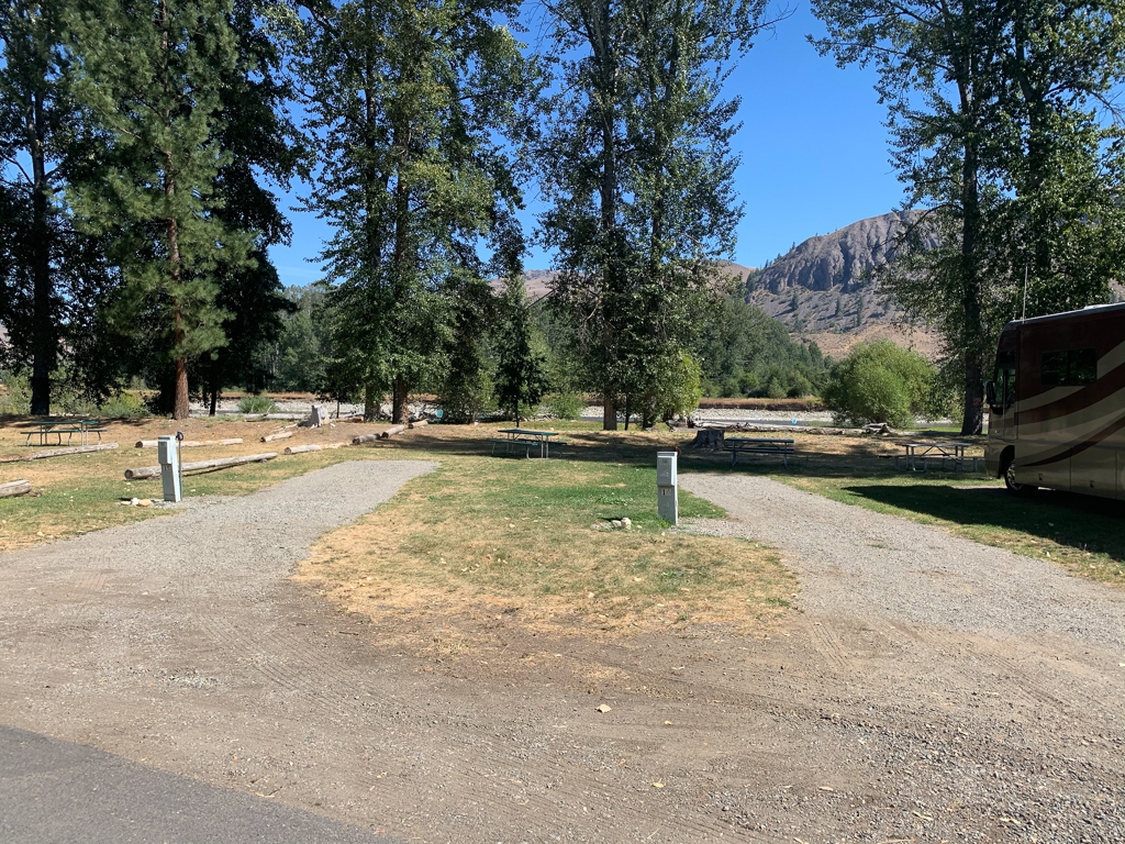 Campsites at Riverbend RV Park in Twisp, Washington