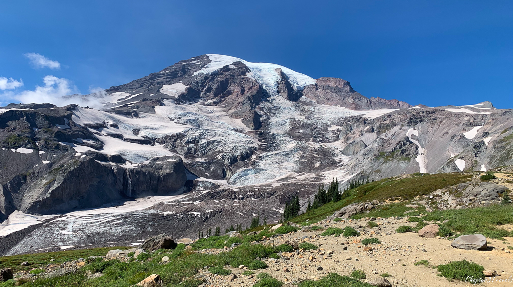 Mount Rainier's glaciated surface