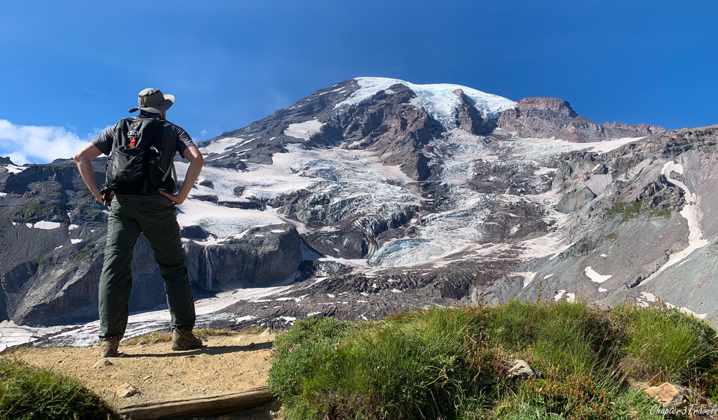Kevin standing in front of Mount Rainier
