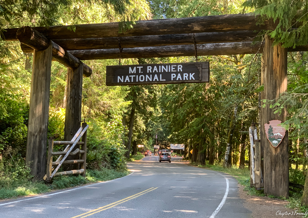 Mount Rainier entrance sign