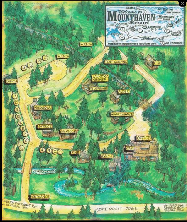 Mounthaven Resort map
