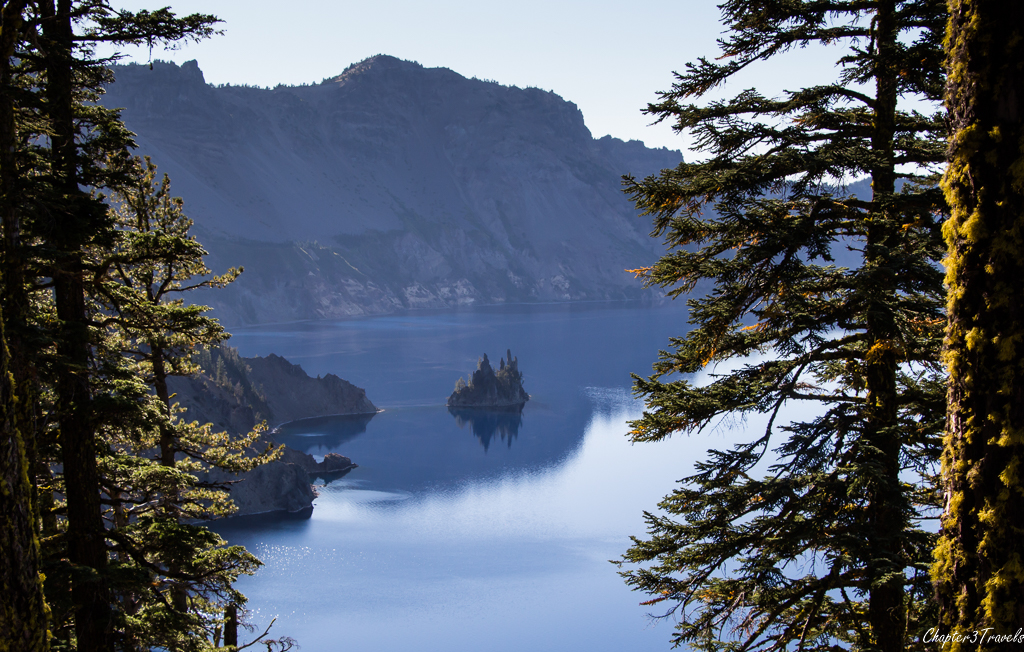 The view from Phantom Ship Overlook at Crater Lake