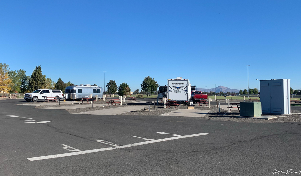 Campsites at the Deschutes County Fairgrounds and Expo Center RV Park