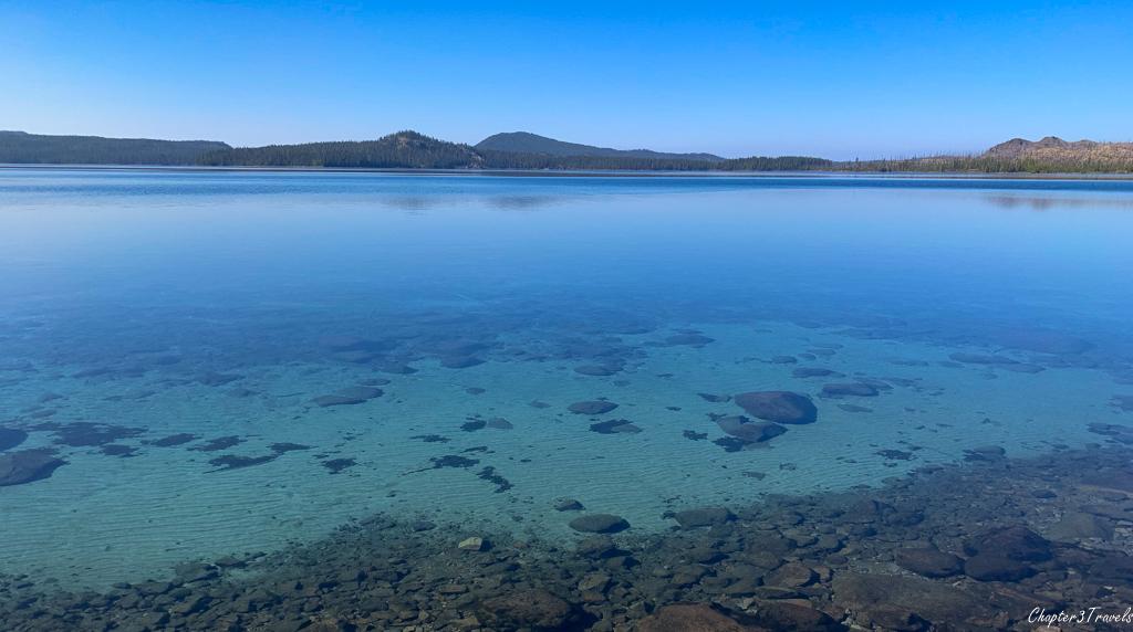 Very clear water at Waldo Lake in Oregon