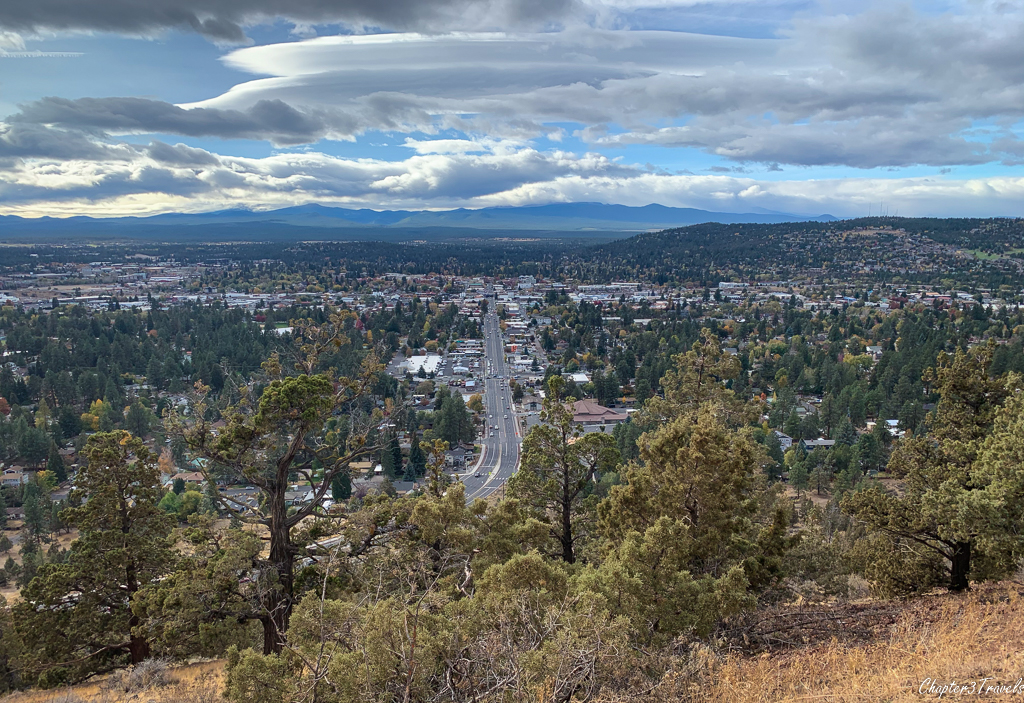 The view from Pilot Butte over Bend