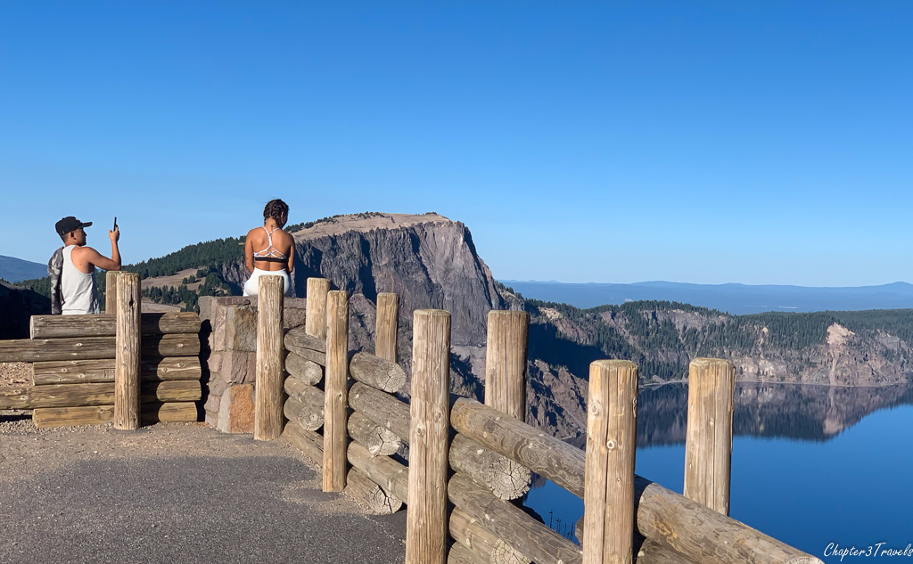 Instagrammer at Crater Lake
