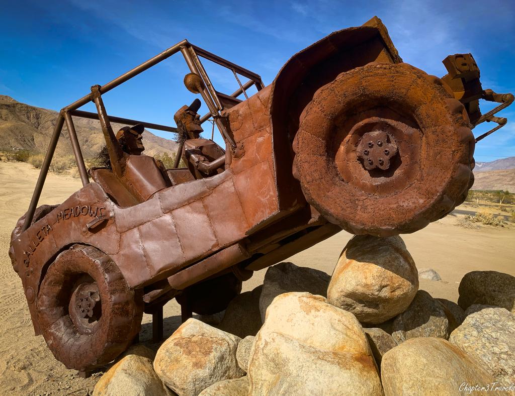 Jeep sculpture at Borrego Springs