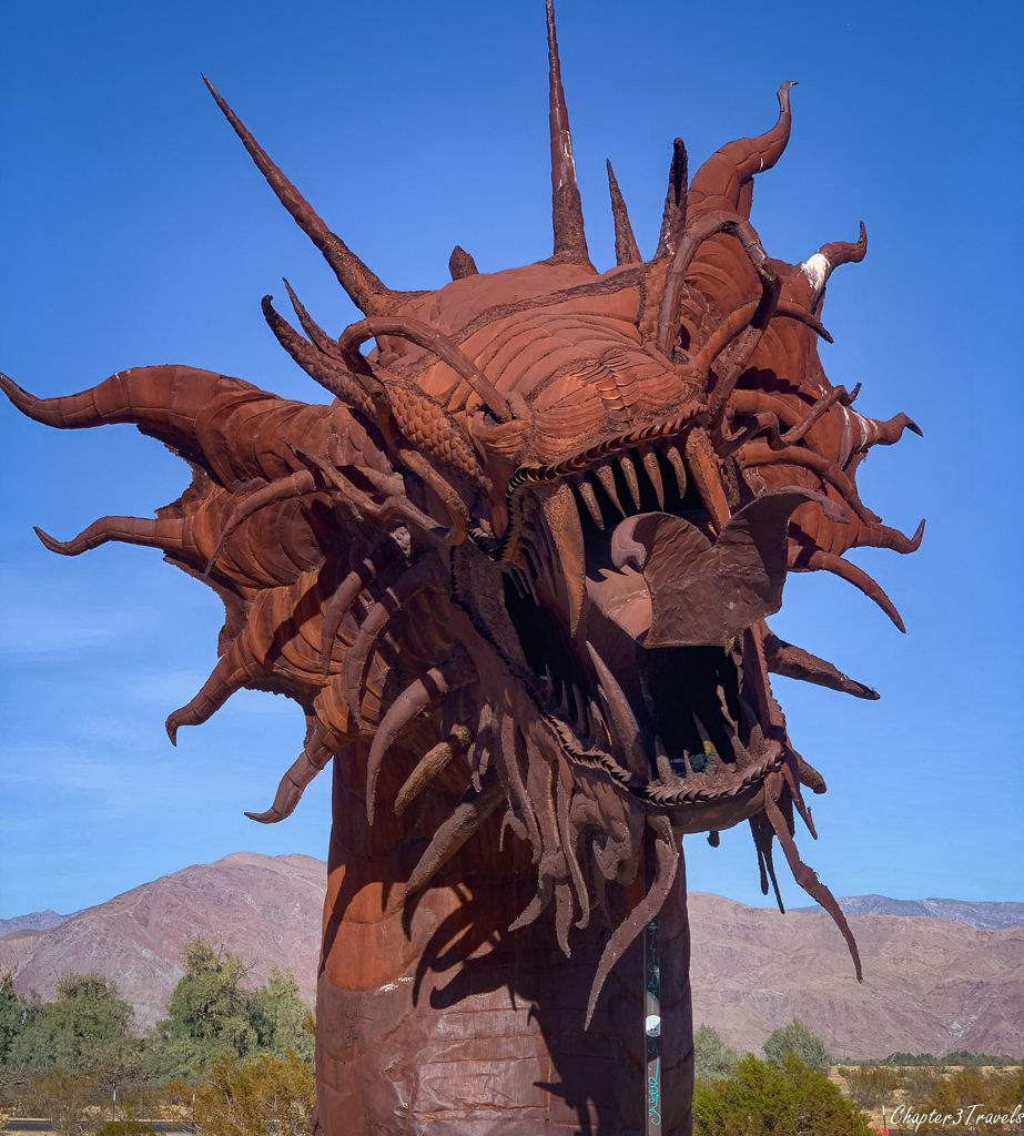 """The """"serpent"""" sculpture by Ricardo Breceda in Borrego Springs"""
