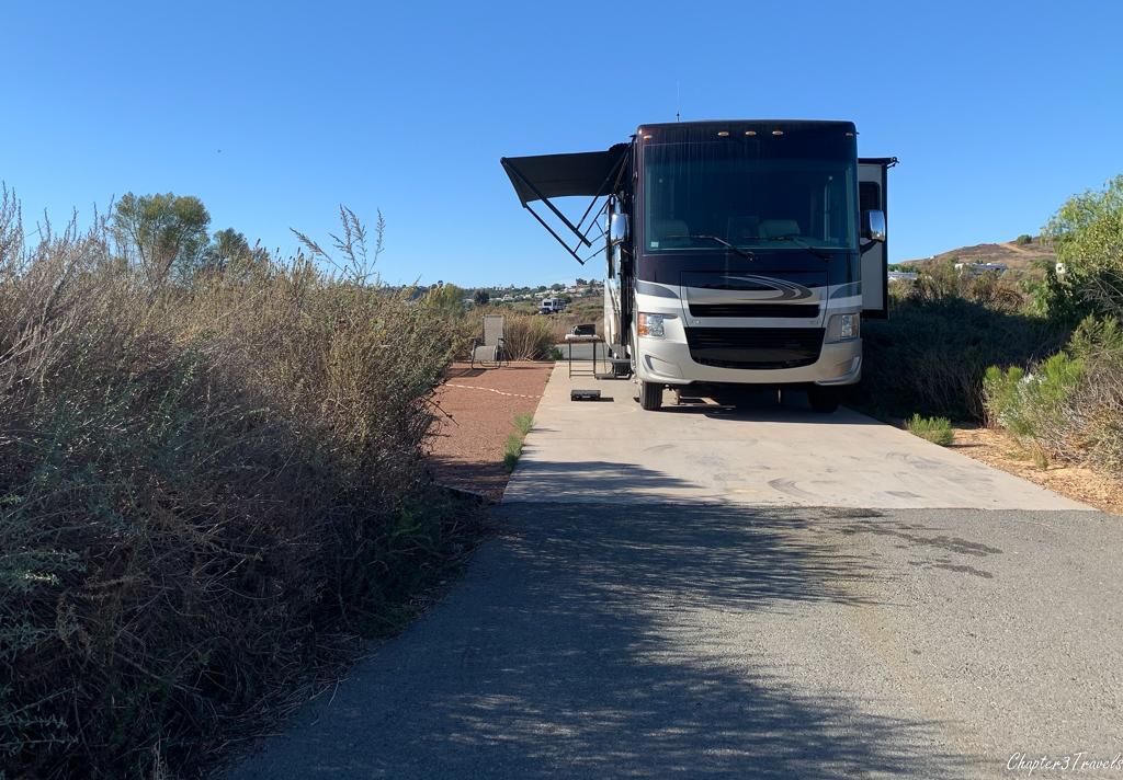 RV in site 79 at Sweetwater Summit Regional Park in San Diego