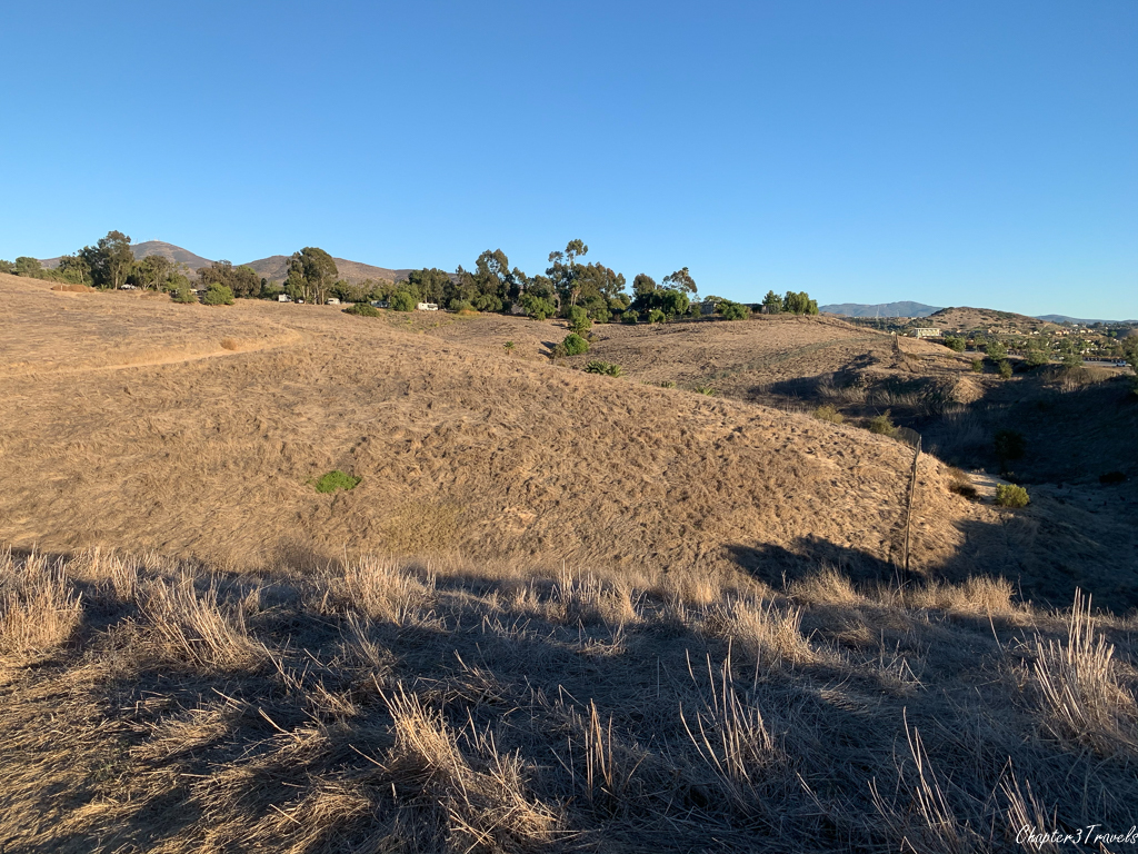 A dry and brown landscape at Sweetwater Summit Regional Park