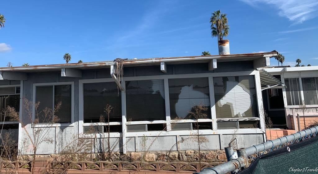 Abandoned trailer home in De Anza Cove