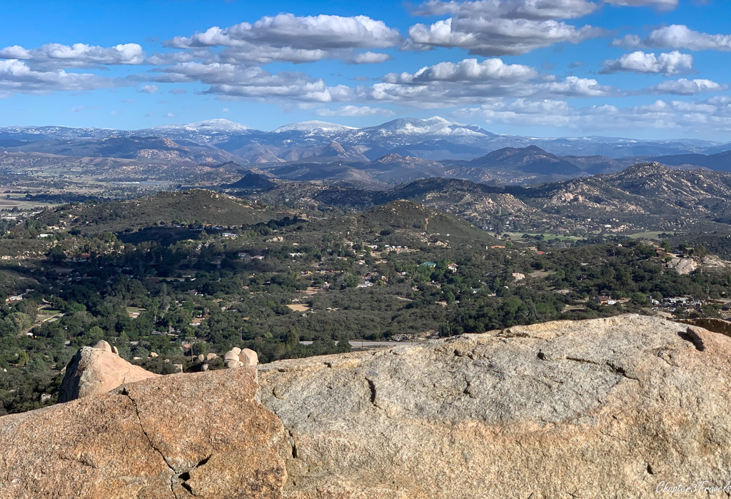 Views of the mountains from the Mt. Woodson Trail