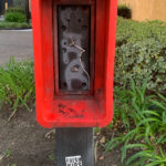 Old pay phone box