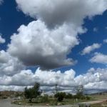 Large clouds over Sweetwater Summit Regional Park