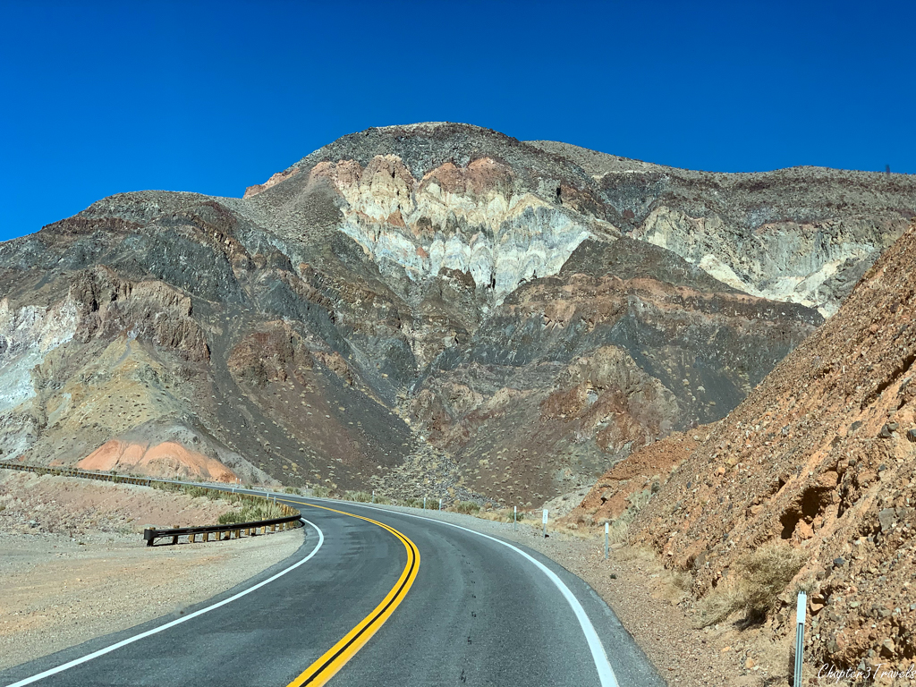 Colorful mountains at Death Valley National Park
