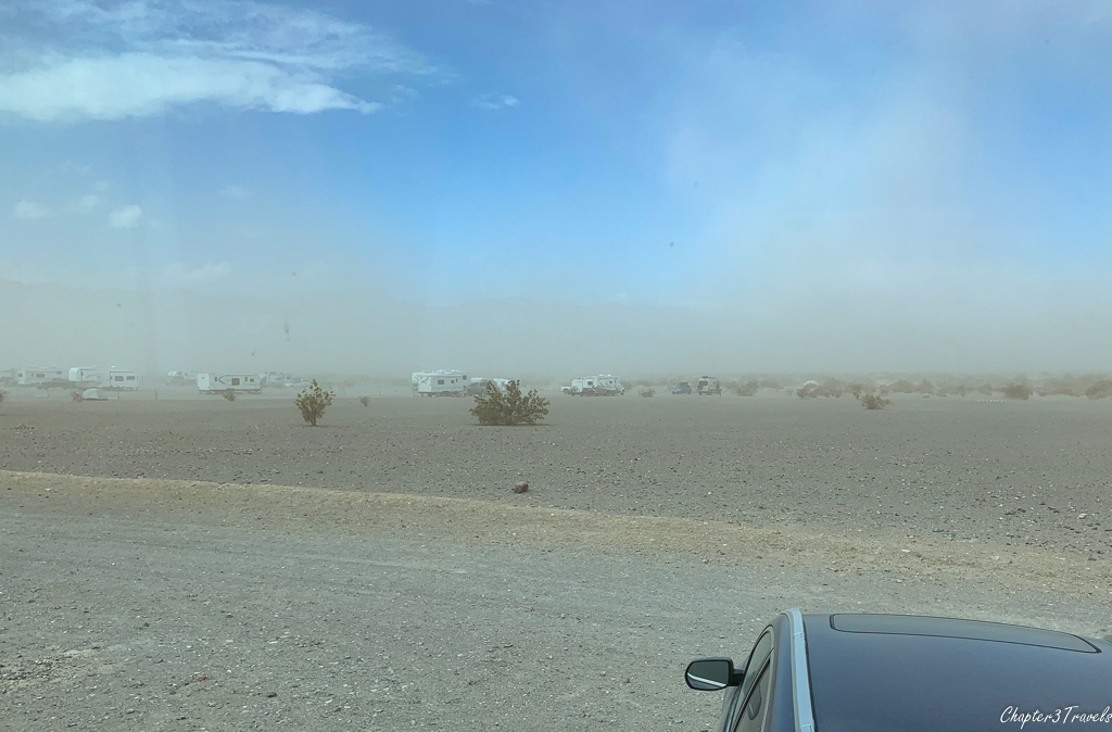 Windstorm across Stovepipe Wells Campground