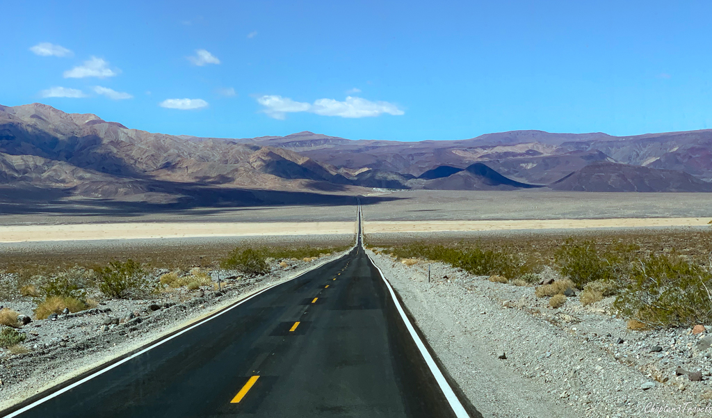 Deserted road in Death Valley National Park